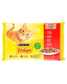 FRISKIES mėsos miksas Mulipack 48x85gdrėgnas kačių maistas