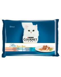 GOURMET Perle Žuvų duetas 4x85g drėgnas maistas katėms