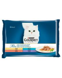 GOURMET Mini filė padaže 4x85g drėgnas maistas katėms