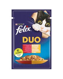 FELIX Duo  jautiena ir paukštiena 85 g kačių drėgnas maistas