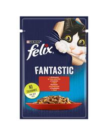 FRISKIES FANTASTIC jautiena drebučiuose 26x85g drėgnas kačių maistas