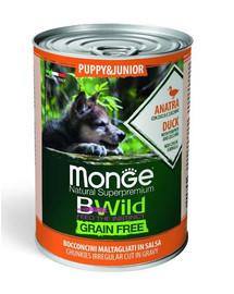 MONGE BWild GF Puppy  šuniuko maistas antiena 400 g