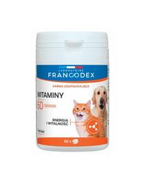 FRANCODEX Vitaminai šunims ir katėms 60 tablečių