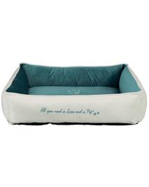 TRIXIE guolis Pet's Home bed 80 × 60 cm pilkas-mėlynas
