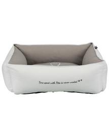 TRIXIE guolis Pet's Home bed, 60 × 50 cm pilkas-rudas