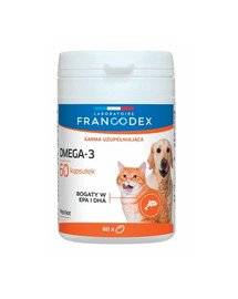 FRANCODEX Omega-3 šunims ir katėms 60 kapsulių