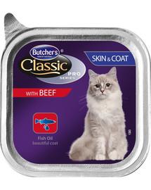 BUTCHER'S Classic Skin&Coat Cat su jautienos paštetu 100 g