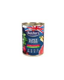 BUTCHER'S Superfoods Dog Tripe su jautiena ir daržovėmis 400 g