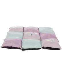TRIXIE Junior Patchwork pagalvė, 60 x 60 cm, alyvinė / mėtinė / rožinė