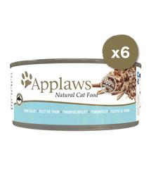 APPLAWS Cat Tin 6 x 70 g kačių šlapias maistas su tuno filė
