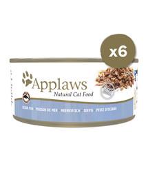 APPLAWS Cat Tin 6 x 156 g kačių šlapias maistas su vandenyno žuvimis