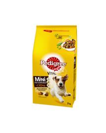 PEDIGREE Adult Small Dog sausas maistas šunims su vištiena ir daržovėmis 6 x 2 kg