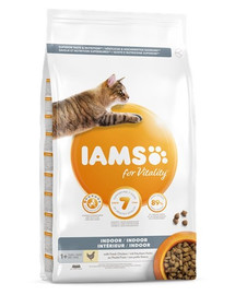 IAMS For Vitality Indoor sausas vištienos maistas suaugusioms katėms namuose 3 kg