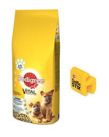 PEDIGREE Junior 15kg (duże rasy) - sucha karma dla psów z kurczakiem i ryżem + SelfieSTIX GRATIS