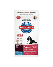 Hill'S Science Plan Canine Adult Advanced Fitness Tuna & Rice 12 kg