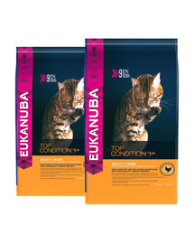 EUKANUBA Cat Adult All Breeds Top Condition Chicken & Liver 20 kg (2 x 10 kg)