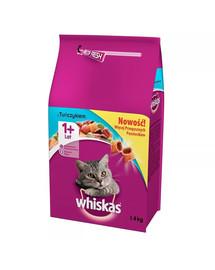 WHISKAS Adult sausas maistas katėms su tunais 1.4 kg x 6