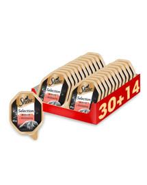 SHEBA Selection in Sauce su jautiena 44 x 85 g (30 + 14 nemokamai)