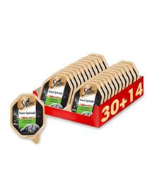 SHEBA Sauce Speciale su triušiu ir daržovėmis 44 x 85 g (30 + 14 nemokamai)