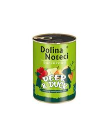 DOLINA NOTECI Premium SuperFood konservai su elniena ir antiena 400 g