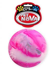 PET NOVA DOG LIFE STYLE pilnas plūduriuojantis kamuolys, 8 cm dydžio, įvairiaspalvis vanilės aromatas