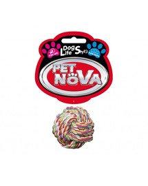 PET NOVA DOG LIFE STYLE Medvilninis virvės kamuolys 5 cm Superdental