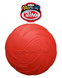 PET NOVA DOG LIFE STYLE Frisbee guminis diskas 22 cm raudonas