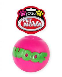 PET NOVA DOG LIFE STYLE Kamuolys WOOF 8cm rožinis
