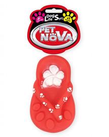 PET NOVA DOG LIFE STYLE  Šlepetės šunų žaislas 15 cm raudonas