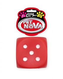 PET NOVA DOG LIFE STYLE  kubas metimui  žaislas šuniui 6 cm raudonas