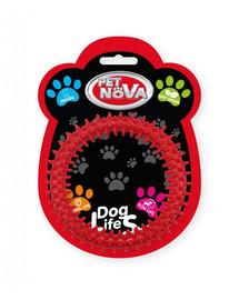 PET NOVA DOG LIFE STYLE Ringo dantal 12.5 cm, raudonas, mėtų aromatas