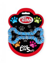 PET NOVA DOG LIFE STYLE Šuns virvė, kaulas 20 cm, mėlyna, mėtų aromatas
