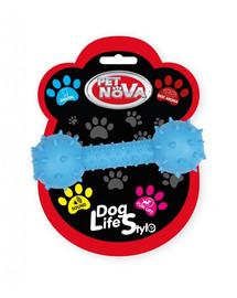 PET NOVA DOG LIFE STYLE  Hantelis su varpu 14 cm, mėlynas, jautienos aromatas