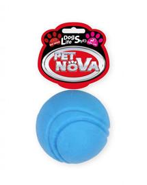 PET NOVA DOG LIFE STYLE Teniso kamuoliukas, 5 cm, mėlynas, jautienos aromatas
