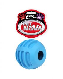 PET NOVA DOG LIFE STYLE Skanėstų kamuolys 6 cm, mėlynas  jautienos skonis