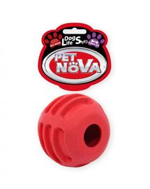 PET NOVA DOG LIFE STYLE Skanėstų kamuolys 6 cm, raudonas jautienos skonis