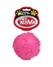 PET NOVA DOG LIFE STYLE 6 cm kamuolys su garsu, rausvas, mėtų aromatas