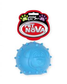 PET NOVA DOG LIFE STYLE Skanėstų kamuolys 6,5 cm, mėlynas, mėtų aromatas