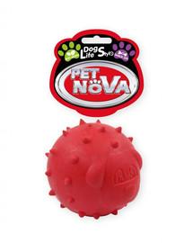PET NOVA DOG LIFE STYLE Skanėstų kamuolys 6,5 cm, raudonas, mėtų aromato
