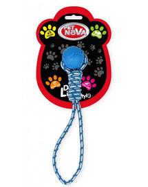 PET NOVA DOG LIFE STYLE Kamuolys ant virvės 40 cm, mėlynas, mėtų aromatas