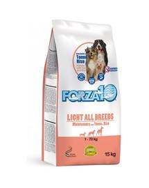 FORZA 10 Maintenance Light sausas  maistas su tunu, mažesniu kalorijų kiekiu šunims 15 kg
