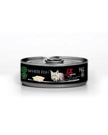 ALPHA SPIRIT konservai katėms su balta žuvimi  85 g