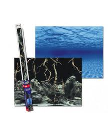 AQUA NOVA Dvipusis akvariumo fonas L 100x50cm  šaknys / vanduo