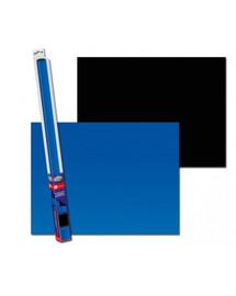 AQUA NOVA Dvipusis akvariumo fonas L 100x50cm mėlynas / juodas