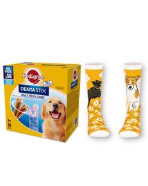 Pedigree Dentastix didelių veislių šunims 8 X 270 g + PEDIGREE kojinės