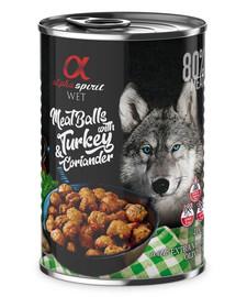ALPHA SPIRIT konservai šunims su kalakutiena ir kalendra 400 g