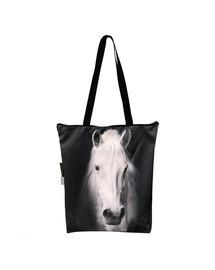FERA Klasikinis pirkinių krepšys baltas žirgas