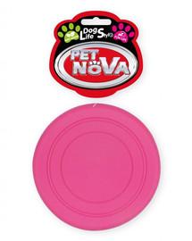 PET NOVA DOG LIFE STYLE Frisbee 18cm rožinis mėtų aromatas