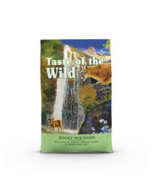 TASTE OF THE WILD Rocky Mountain 6,6 kg su kepta elniena ir rūkyta lašiša