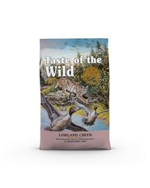 TASTE OF THE WILD Lowland Creek 2 kg su keptomis putpelėmis ir kepta antiena